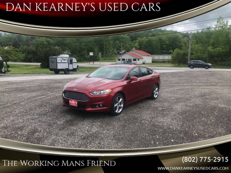 2013 Ford Fusion for sale at DAN KEARNEY'S USED CARS in Center Rutland VT