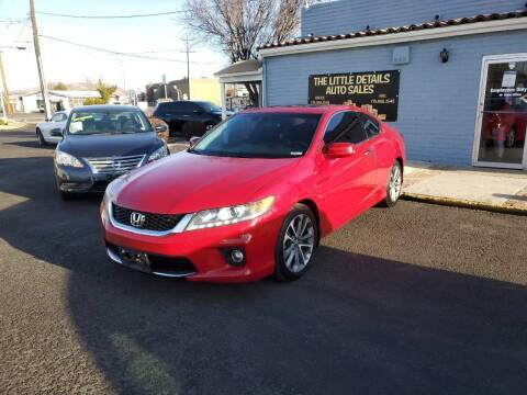 2013 Honda Accord for sale at The Little Details Auto Sales in Reno NV