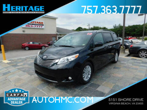 2015 Toyota Sienna for sale at Heritage Motor Company in Virginia Beach VA