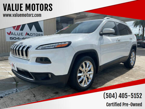 2015 Jeep Cherokee for sale at VALUE MOTORS in Kenner LA
