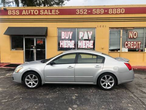 2008 Nissan Maxima for sale at BSS AUTO SALES INC in Eustis FL