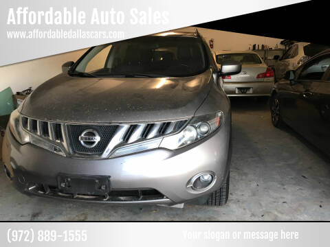 2009 Nissan Murano for sale at Affordable Auto Sales in Dallas TX