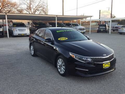 2016 Kia Optima for sale at Bostick's Auto & Truck Sales in Brownwood TX