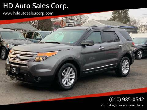 2012 Ford Explorer for sale at HD Auto Sales Corp. in Reading PA