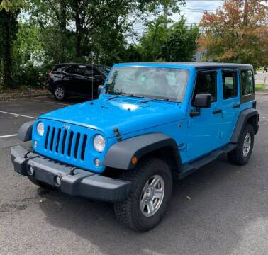 2017 Jeep Wrangler Unlimited for sale at Caulfields Family Auto Sales in Bath PA