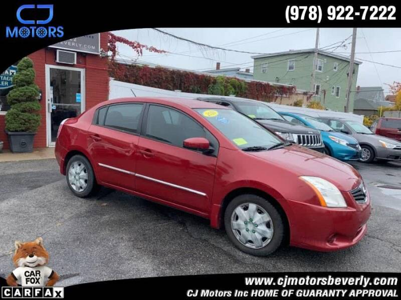 2010 Nissan Sentra for sale at CJ Motors Inc. in Beverly MA
