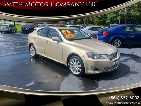 2006 Lexus IS 250 for sale at Smith Motor Company INC in Mc Cormick SC
