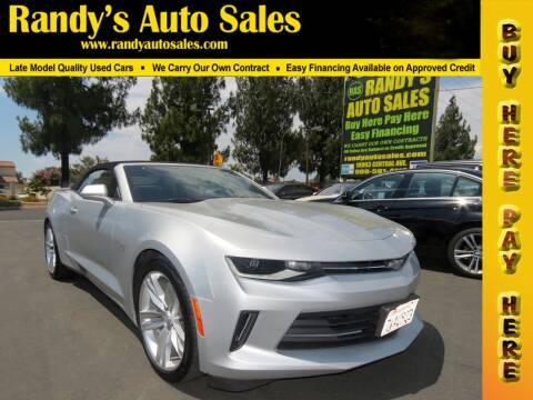 2016 Chevrolet Camaro for sale at Randy's Auto Sales in Ontario CA