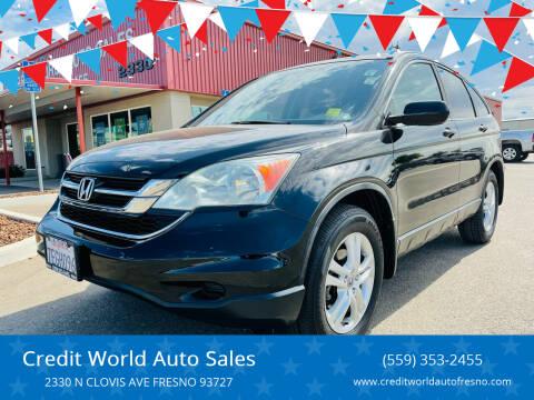 2011 Honda CR-V for sale at Credit World Auto Sales in Fresno CA