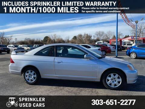 2002 Honda Civic for sale at Sprinkler Used Cars in Longmont CO