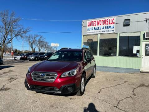2017 Subaru Outback for sale at United Motors LLC in Saint Francis WI