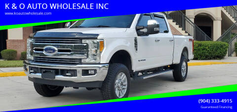 2017 Ford F-250 Super Duty for sale at K & O AUTO WHOLESALE INC in Jacksonville FL