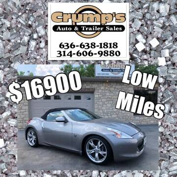 2010 Nissan 370Z for sale at CRUMP'S AUTO & TRAILER SALES in Crystal City MO