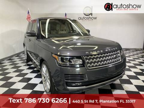 2017 Land Rover Range Rover for sale at AUTOSHOW SALES & SERVICE in Plantation FL