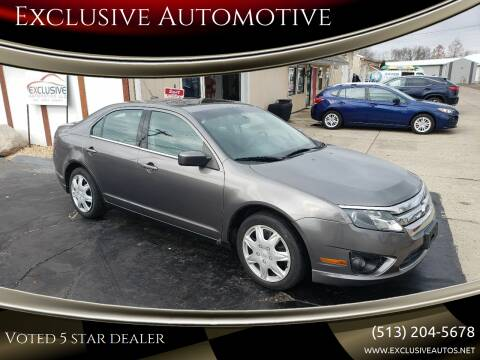 2010 Ford Fusion for sale at Exclusive Automotive in West Chester OH