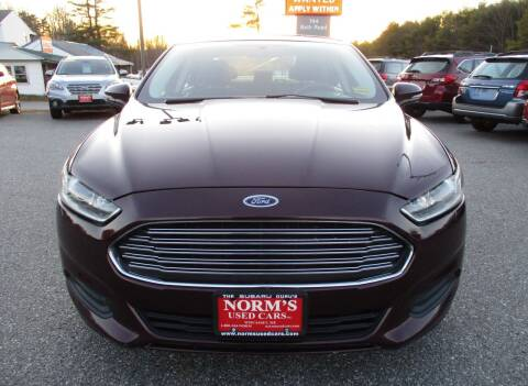 2013 Ford Fusion for sale at Norm's Used Cars INC. in Wiscasset ME