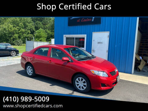 2010 Toyota Corolla for sale at Shop Certified Cars in Easton MD