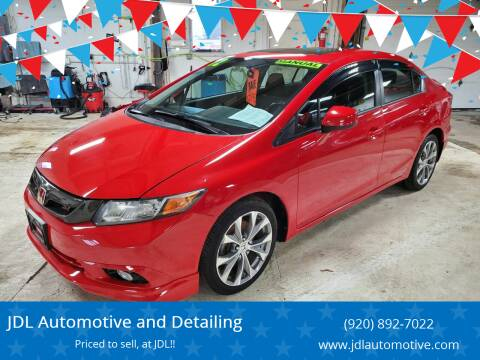 2012 Honda Civic for sale at JDL Automotive and Detailing in Plymouth WI