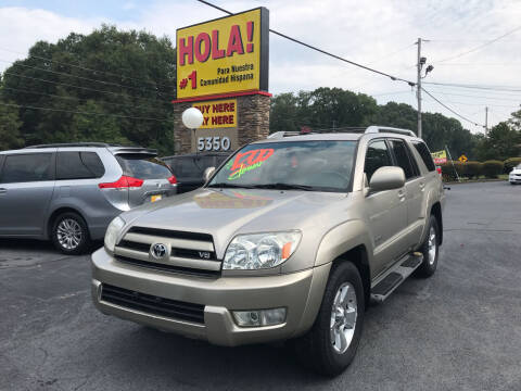2004 Toyota 4Runner for sale at No Full Coverage Auto Sales in Austell GA