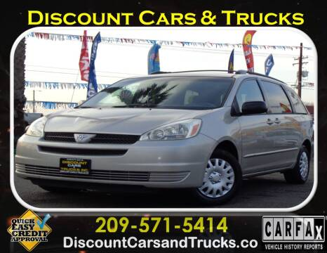 2005 Toyota Sienna for sale at Discount Cars & Trucks in Modesto CA