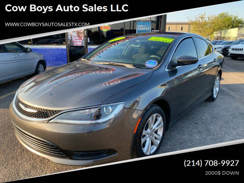 2015 Chrysler 200 for sale at Cow Boys Auto Sales LLC in Garland TX