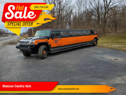 2004 HUMMER H2 HARLEY 14 PASSENGER! H2 for sale at Mancuso Country Auto in Batavia NY