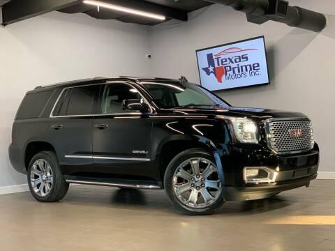 2016 GMC Yukon for sale at Texas Prime Motors in Houston TX