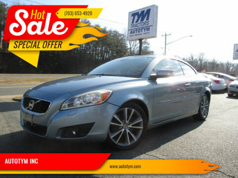 2012 Volvo C70 for sale at AUTOTYM INC in Fredericksburg VA