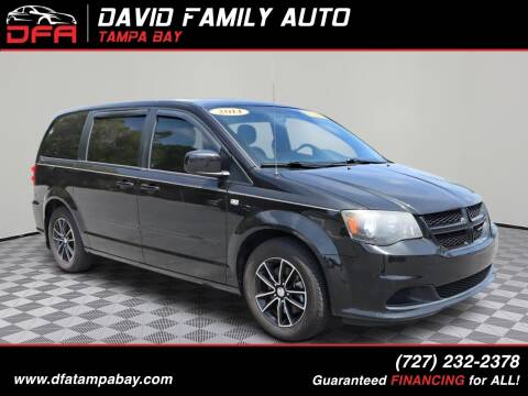 2014 Dodge Grand Caravan for sale at David Family Auto in New Port Richey FL