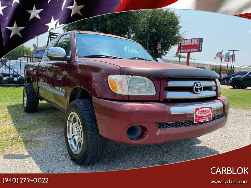 2005 Toyota Tundra for sale at CARBLOK in Lewisville TX
