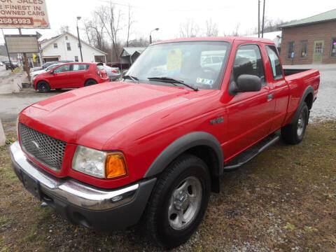 2003 Ford Ranger for sale at Sleepy Hollow Motors in New Eagle PA