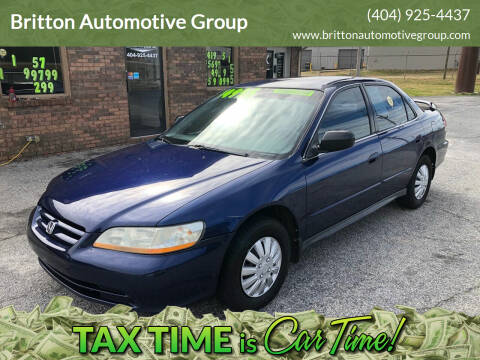 2002 Honda Accord for sale at Britton Automotive Group in Loganville GA