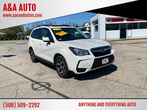 2014 Subaru Forester for sale at A&A AUTO in Fairhaven MA
