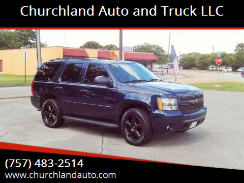 2008 Chevrolet Tahoe for sale at Churchland Auto and Truck LLC in Portsmouth VA