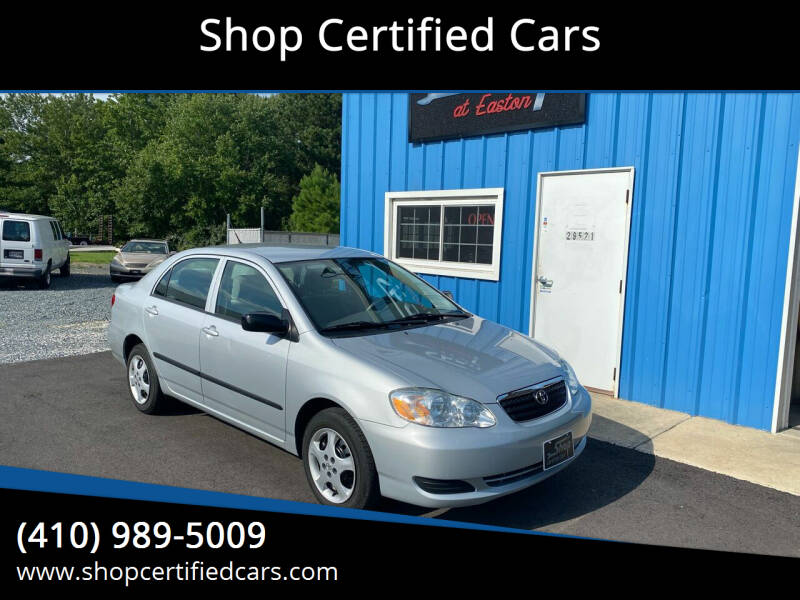 2007 Toyota Corolla for sale at Shop Certified Cars in Easton MD