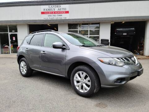 2013 Nissan Murano for sale at Landes Family Auto Sales in Attleboro MA