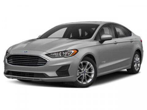 2019 Ford Fusion Hybrid for sale at Hawk Ford of St. Charles in St Charles IL