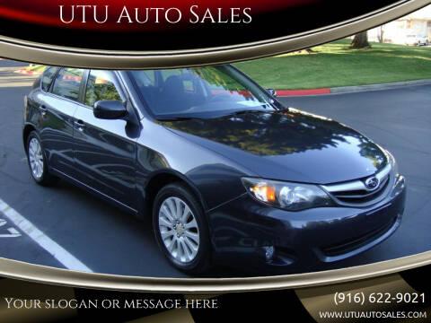 2010 Subaru Impreza for sale at UTU Auto Sales in Sacramento CA