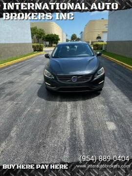 2014 Volvo S60 for sale at INTERNATIONAL AUTO BROKERS INC in Hollywood FL