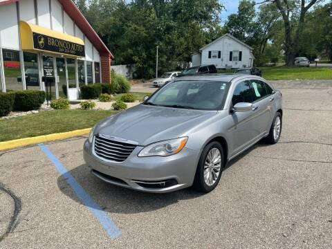 2013 Chrysler 200 for sale at Bronco Auto in Kalamazoo MI