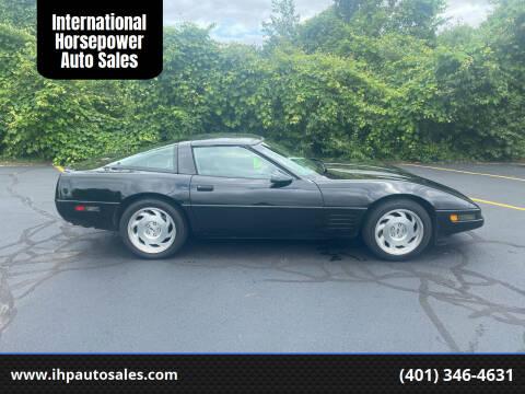 1993 Chevrolet Corvette for sale at International Horsepower Auto Sales in Warwick RI