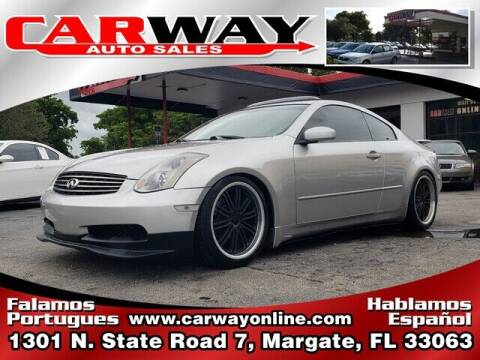 2004 Infiniti G35 for sale at CARWAY Auto Sales in Margate FL