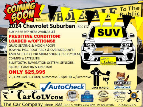 2014 Chevrolet Suburban for sale at The Car Company in Las Vegas NV
