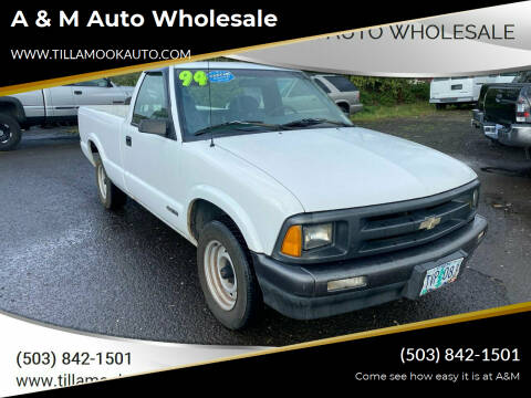 1994 Chevrolet S-10 for sale at A & M Auto Wholesale in Tillamook OR