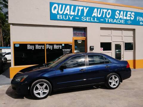 2006 Honda Accord for sale at QUALITY AUTO SALES OF FLORIDA in New Port Richey FL