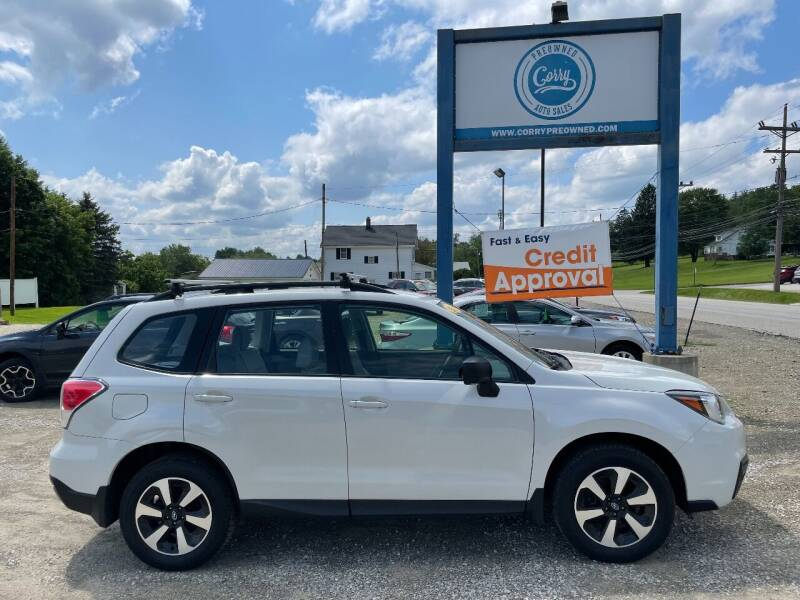 2018 Subaru Forester for sale at Corry Pre Owned Auto Sales in Corry PA