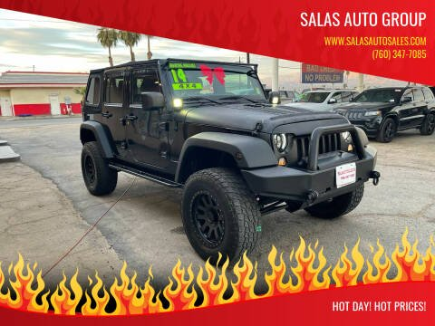 2014 Jeep Wrangler Unlimited for sale at Salas Auto Group in Indio CA