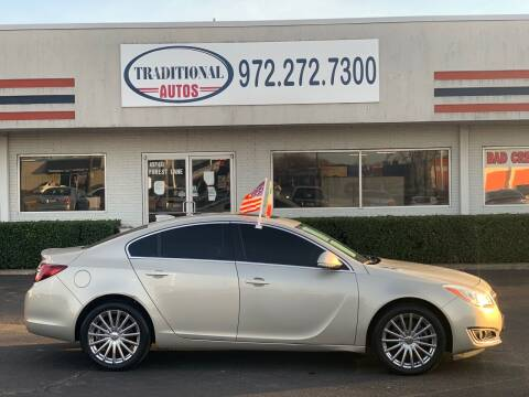 2015 Buick Regal for sale at Traditional Autos in Dallas TX