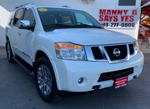 2015 Nissan Armada for sale at Manny G Motors in San Antonio TX