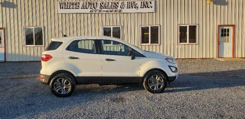 2020 Ford EcoSport for sale at White Auto Sales Inc in Summersville WV